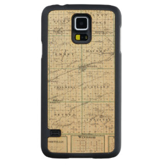 Map of McDonough County, Rushville Carved Maple Galaxy S5 Case