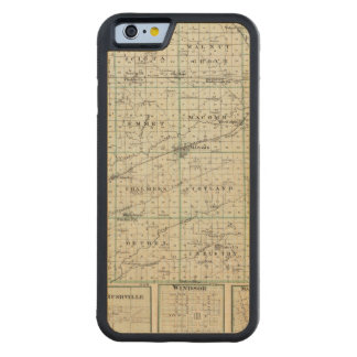 Map of McDonough County, Rushville Carved Maple iPhone 6 Bumper Case