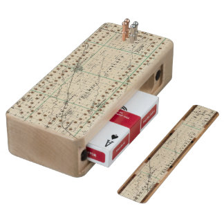 Map of McDonough County, Rushville Cribbage Board