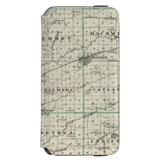Map of McDonough County, Rushville iPhone 6/6s Wallet Case