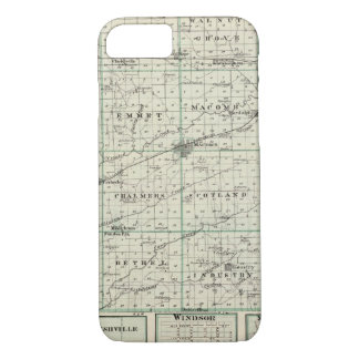 Map of McDonough County, Rushville iPhone 7 Case
