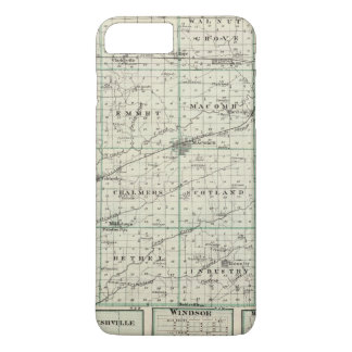 Map of McDonough County, Rushville iPhone 7 Plus Case