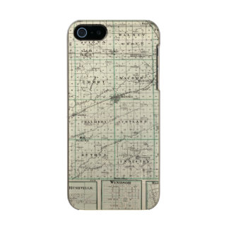 Map of McDonough County, Rushville Metallic Phone Case For iPhone SE/5/5s