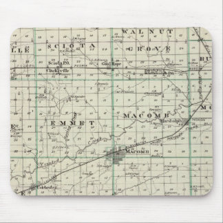 Map of McDonough County, Rushville Mouse Pad