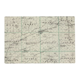 Map of McDonough County, Rushville Placemat