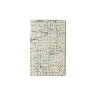 Map of McDonough County, Rushville Pocket Moleskine Notebook