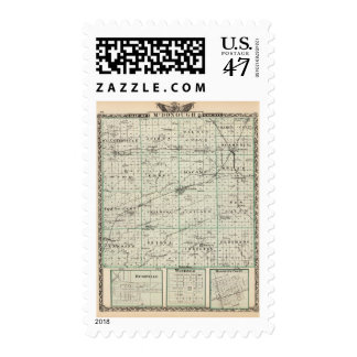 Map of McDonough County, Rushville Postage