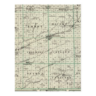 Map of McDonough County, Rushville Postcard