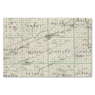 Map of McDonough County, Rushville Tissue Paper