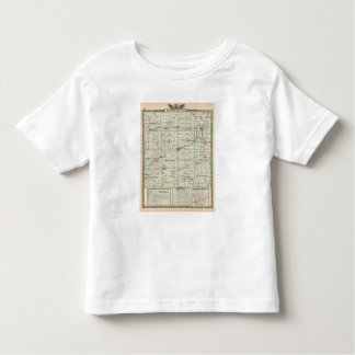 Map of McDonough County, Rushville Toddler T-shirt