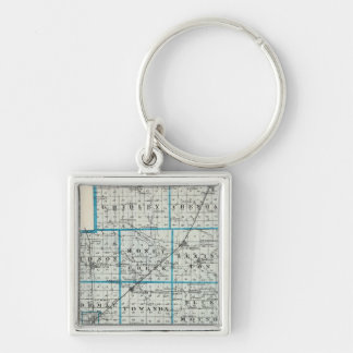 Map of McLean County and Le Roy Keychain