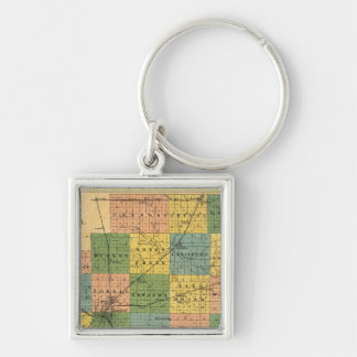 Map of McLean County, Illinois 1886 Keychain