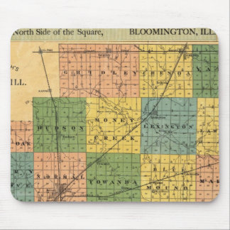 Map of McLean County, Illinois 1886 Mouse Pad