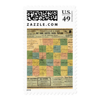 Map of McLean County, Illinois 1886 Postage