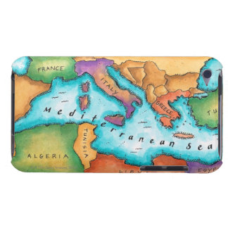 Map of Mediterranean Sea Case-Mate iPod Touch Case