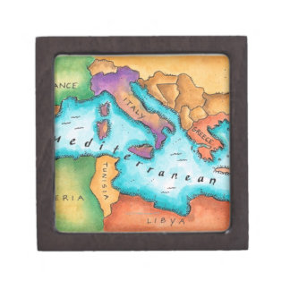 Map of Mediterranean Sea Gift Box