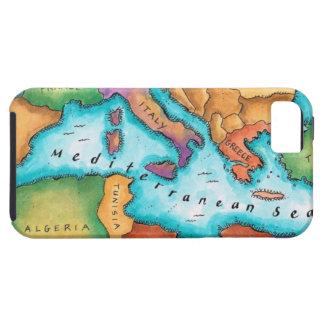 Map of Mediterranean Sea iPhone SE/5/5s Case