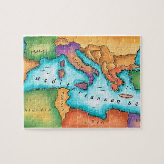 Map of Mediterranean Sea Jigsaw Puzzle