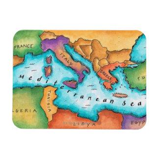 Map of Mediterranean Sea Magnet