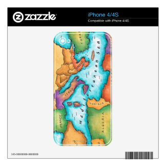 Map of Mediterranean Sea Skins For The iPhone 4
