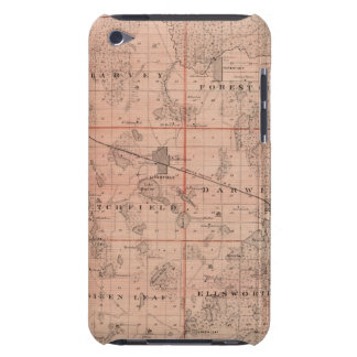 Map of Meeker County, Minnesota iPod Touch Case