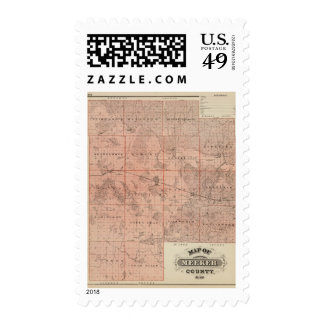 Map of Meeker County, Minnesota Stamp
