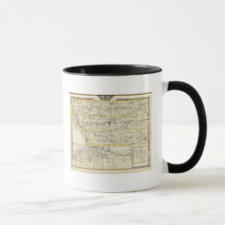 Map of Mercer County, Rock Island and Plano Mug