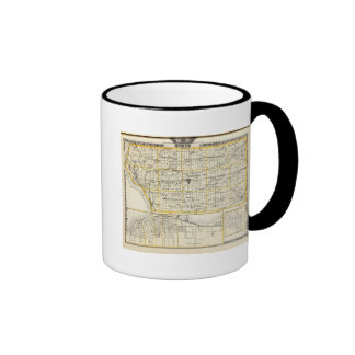 Map of Mercer County, Rock Island and Plano Ringer Mug