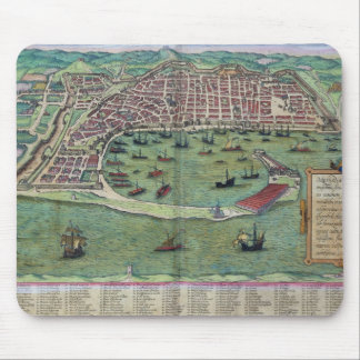 Map of Messina, from 'Civitates Orbis Terrarum' by Mouse Pad