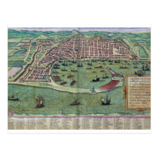 Map of Messina, from 'Civitates Orbis Terrarum' by Postcard