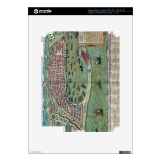 Map of Messina, from 'Civitates Orbis Terrarum' by Skin For iPad 3