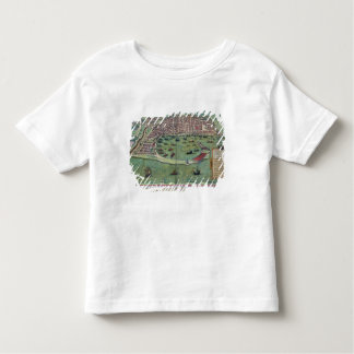 Map of Messina, from 'Civitates Orbis Terrarum' by Toddler T-shirt