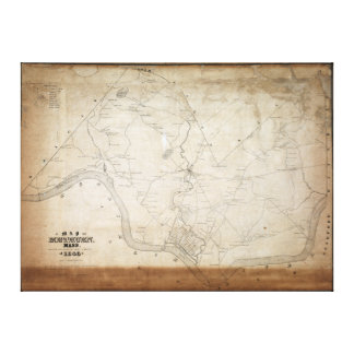 Map of Methuen Massachusetts in 1846 Gallery Wrapped Canvas