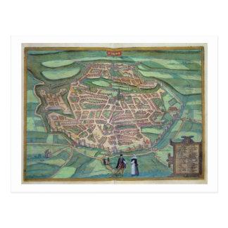Map of Metz, from 'Civitates Orbis Terrarum' by Ge Postcard