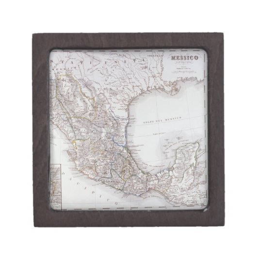 Map of Mexico 2 Jewelry Box
