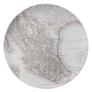 Map of Mexico 2 Dinner Plate