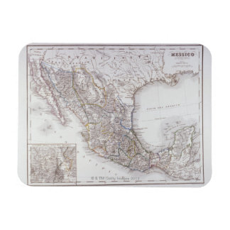 Map of Mexico 2 Rectangle Magnets