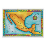 Map of Mexico 2 Print