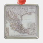 Map of Mexico 2 Square Metal Christmas Ornament