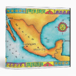 Map of Mexico 3 Ring Binder