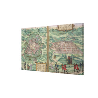 Map of Mexico and Cuzco, from 'Civitates Orbis Ter Canvas Print
