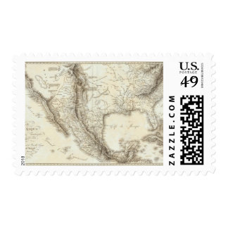 Map of Mexico and neighboring countries Postage