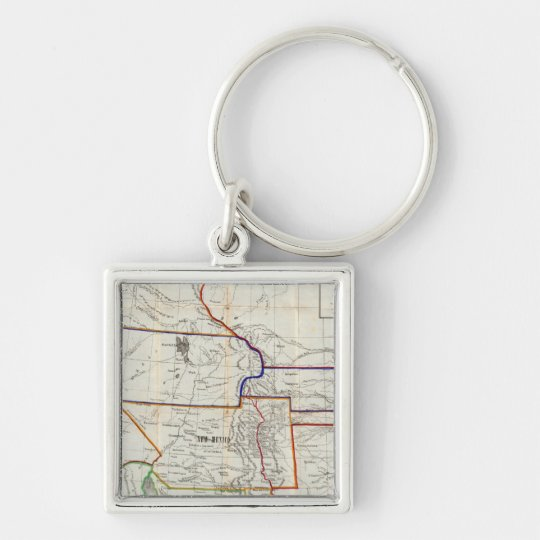 Map Of Mexico & California Keychain