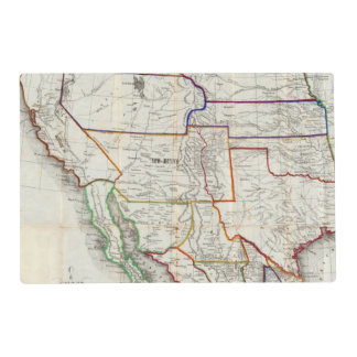 Map Of Mexico & California Laminated Place Mat
