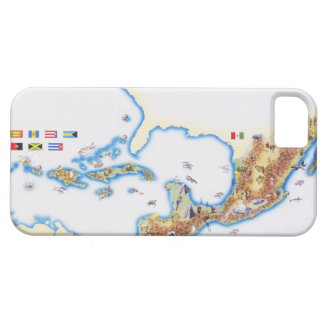 Map of Mexico, Central America and Caribbean iPhone SE/5/5s Case