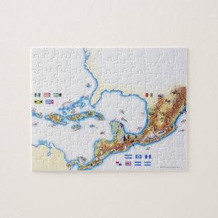 Caribbean Map Jigsaw Puzzles | Zazzle