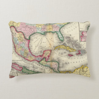 Map Of Mexico, Central America Decorative Pillow