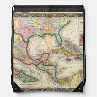 Map Of Mexico, Central America Drawstring Bag