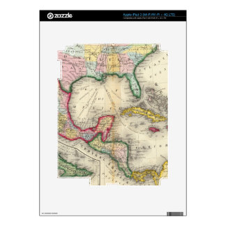 Map Of Mexico, Central America iPad 3 Decal