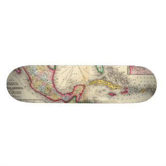 Map Of Mexico, Central America Skateboard Deck